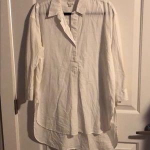 Gap tunic with shirttail hem